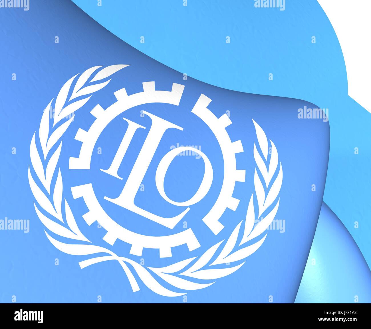 Flag of ILO - Stock Image