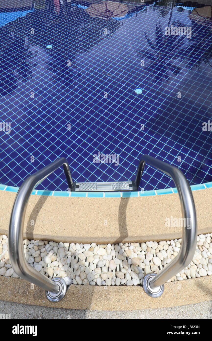 Edge of a Swimming Pool - Stock Image