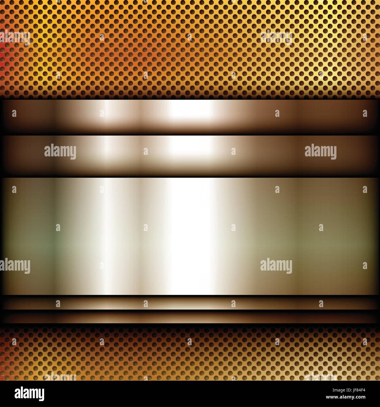 metal, square, banner, glossy, metallic, shaddow, shadow, gold, metal, square, - Stock Image