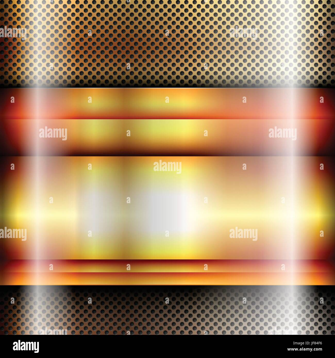 metal, square, banner, glossy, metallic, shaddow, shadow, gold, metal, square, - Stock Vector