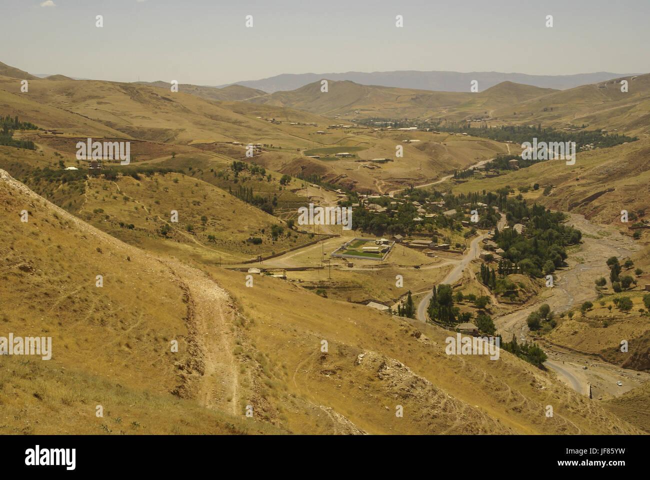 Semi-desert in Uzbekistan - Stock Image