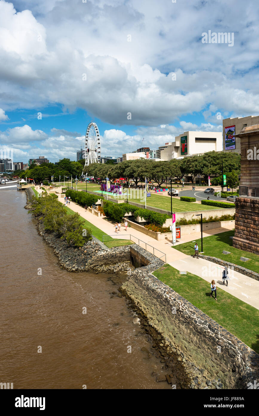 South Bank Parklands are located at South Bank in Brisbane, Queensland, Australia. - Stock Image