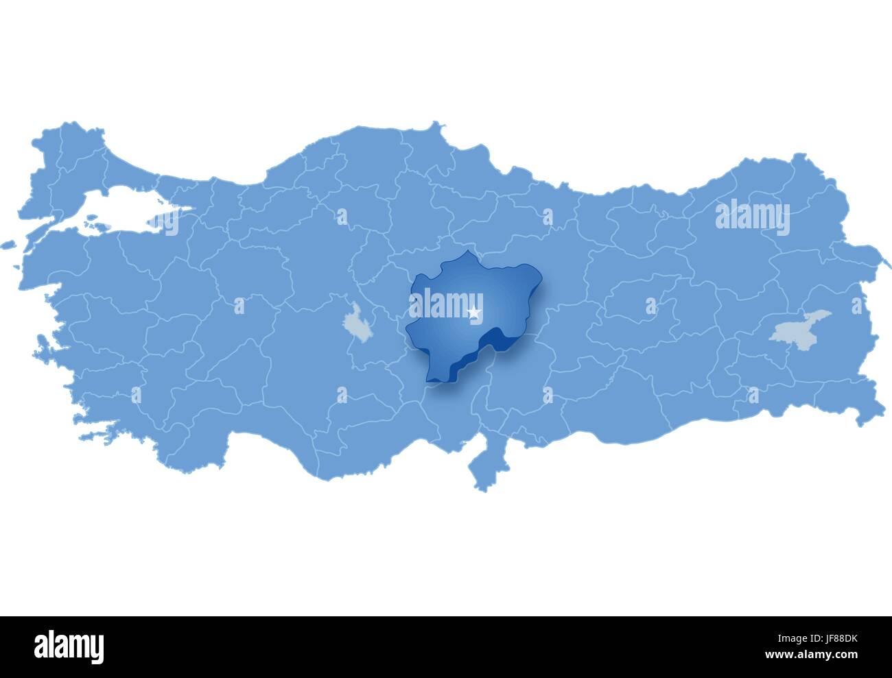 Map of Turkey, Kayseri Stock Vector Art & Illustration, Vector Image Kayseri Turkey Map on thyatira turkey map, malazgirt turkey map, akcakale turkey map, denizli turkey map, uchisar turkey map, burdur turkey map, princes' islands turkey map, artvin turkey map, erzurum turkey map, derinkuyu turkey map, turkey location on map, adapazari turkey map, pasabag turkey map, damascus turkey map, seleucia pieria turkey map, mount nemrut turkey map, aleppo turkey map, grand bazaar turkey map, cappadocia turkey map, palmyra turkey map,