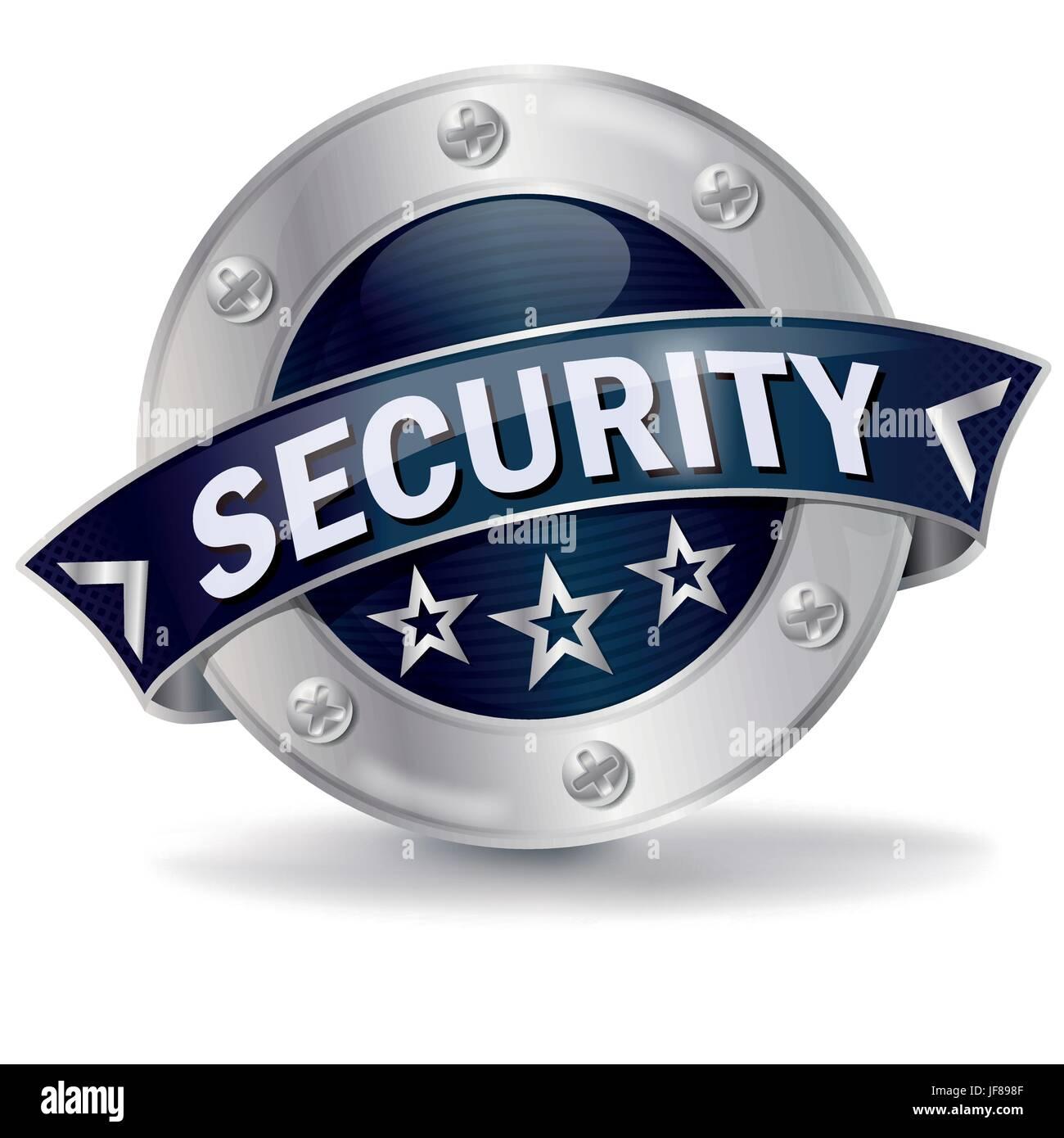 button security Stock Vector