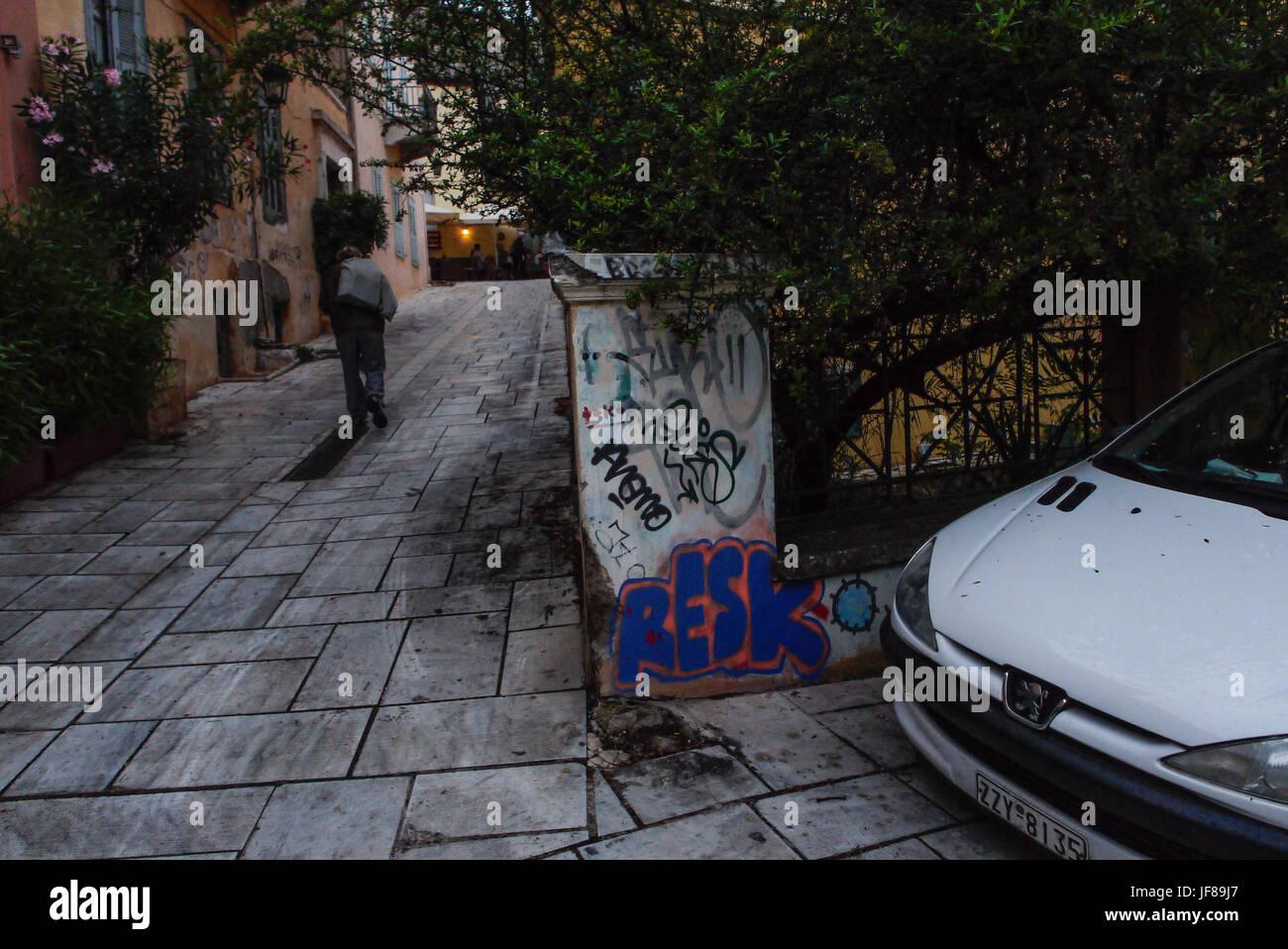 General views of Plaka area, Athens  (Greece) - Stock Image