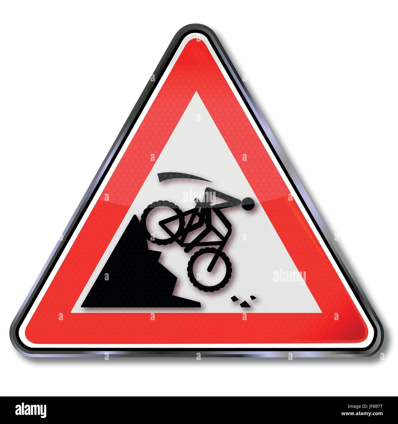 danger, extreme haven, mountainbike, bike, bicycle, cycle, crash, schuss, roll - Stock Image