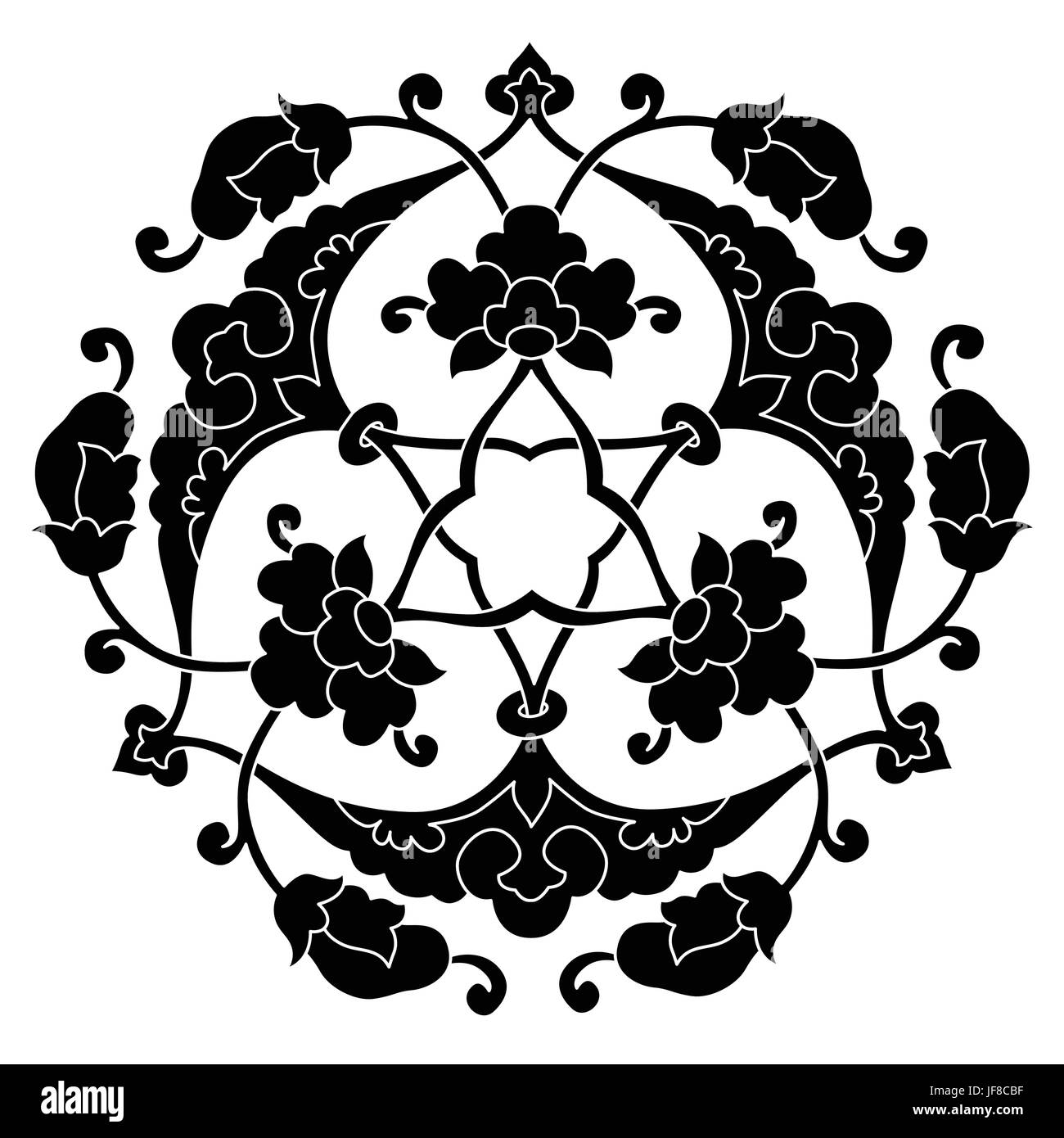 version thirty six series designed from the ottoman pattern - Stock Image