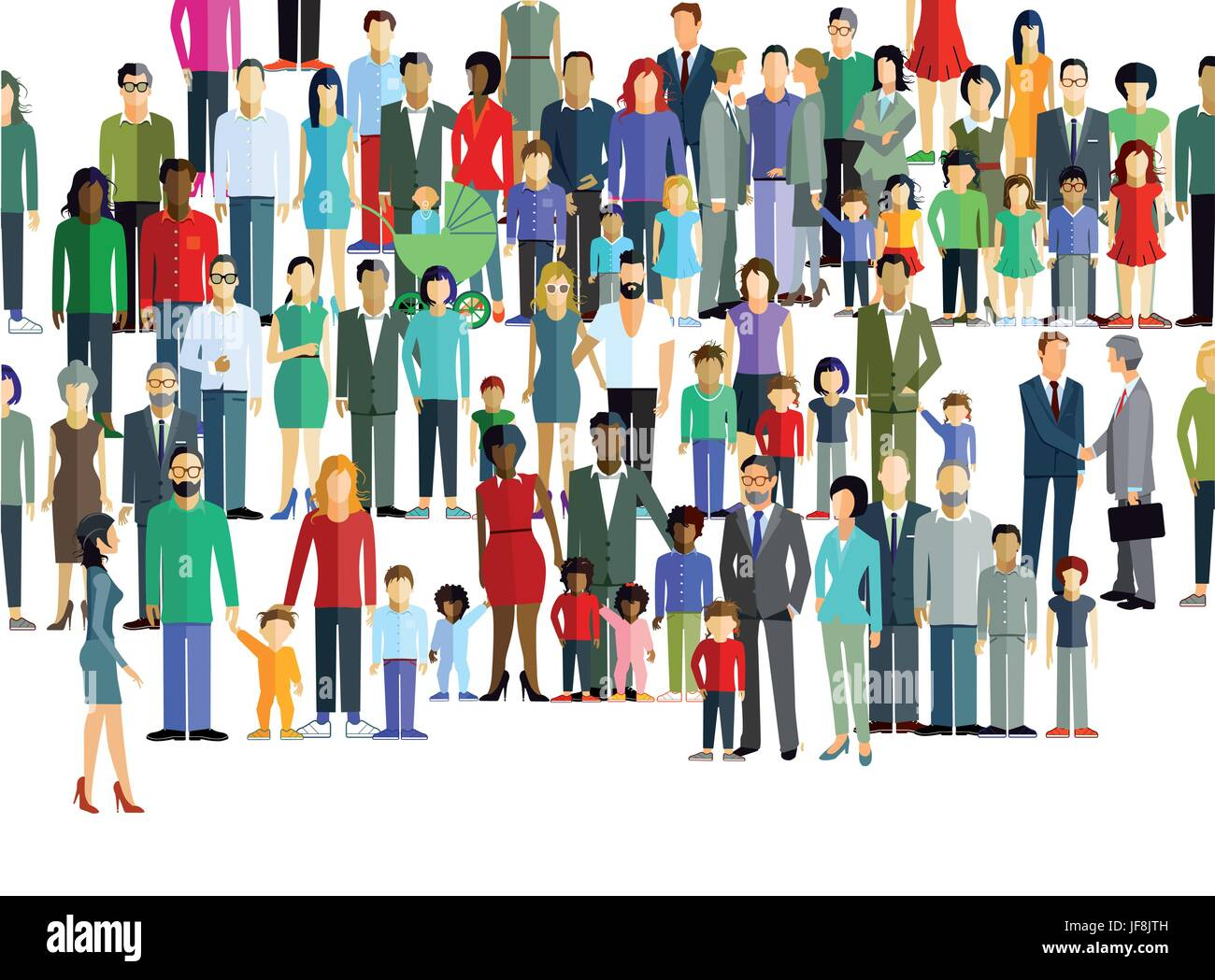 group of people on the street - Stock Vector