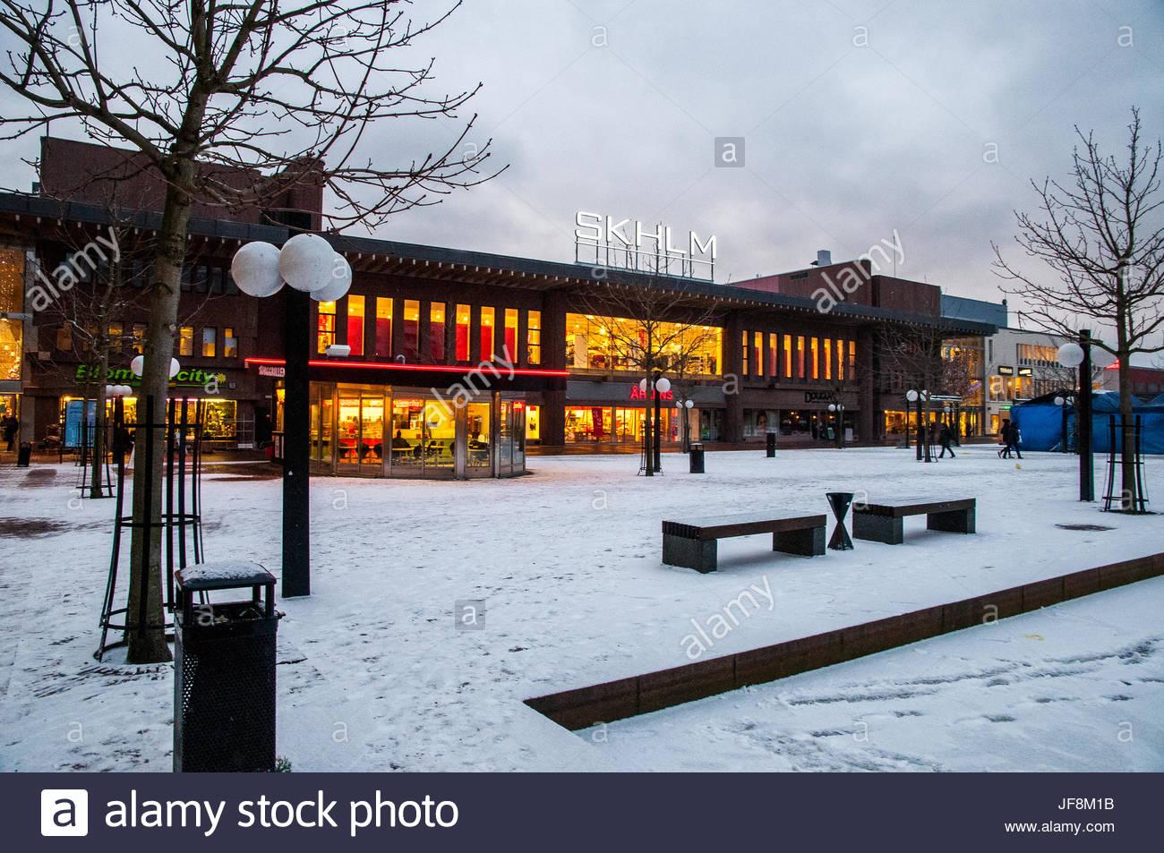 The Skarholmen shopping center in Stockholm. - Stock Image