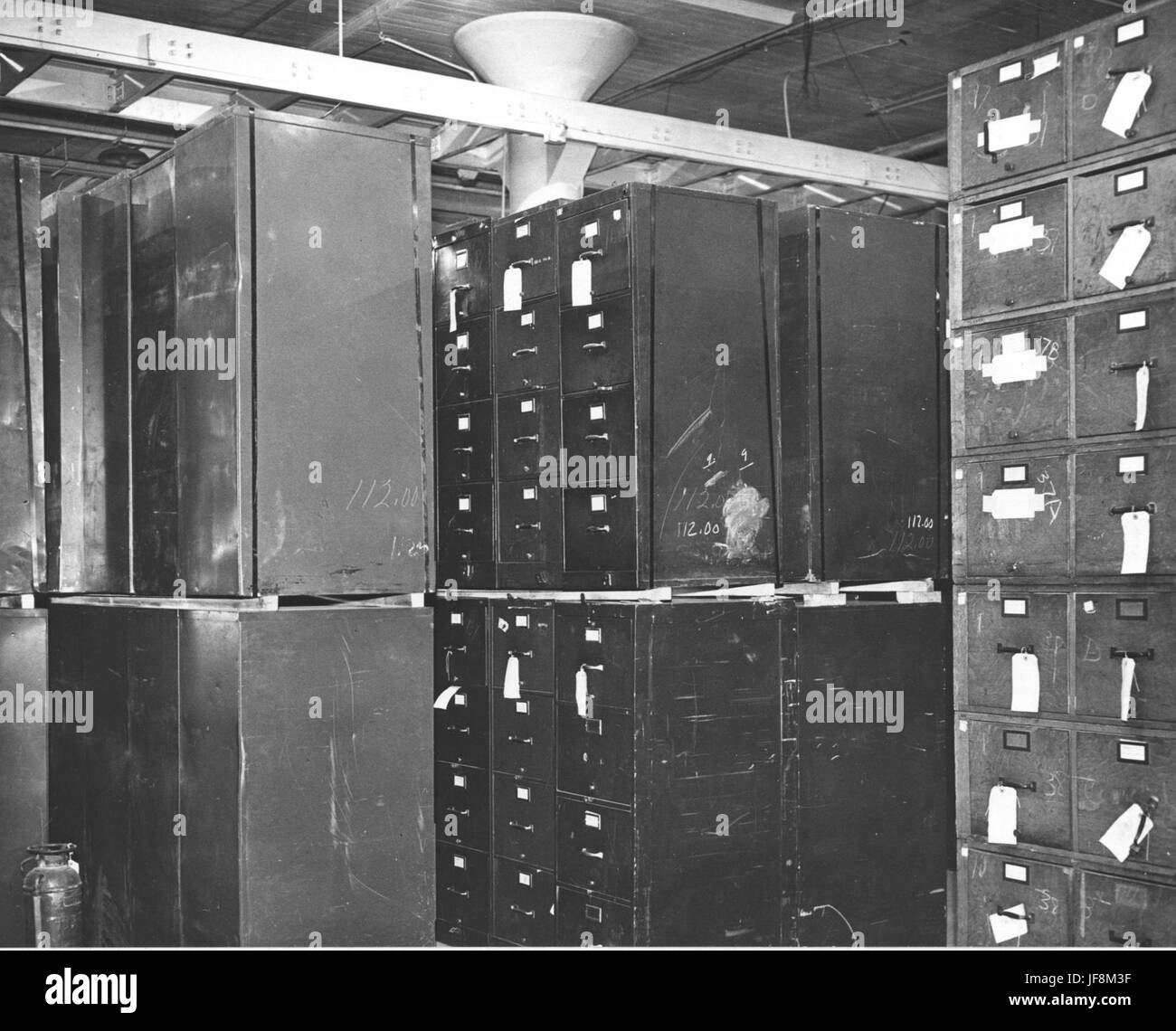 Photograph of Federal Records Center, Alexandria, Virginia, Storage Area 34587860214 o Stock Photo