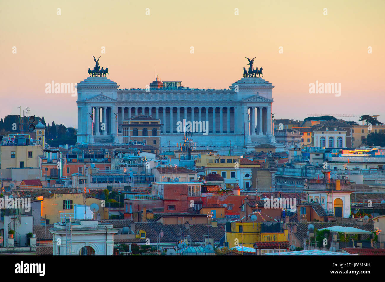 Rome at twilight. Italy - Stock Image