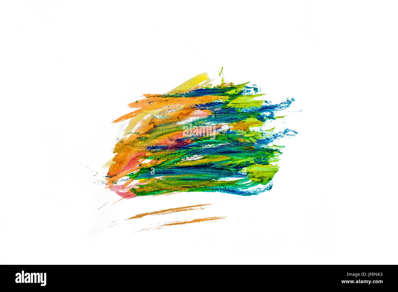 Streaks of color on a white background - Stock Image