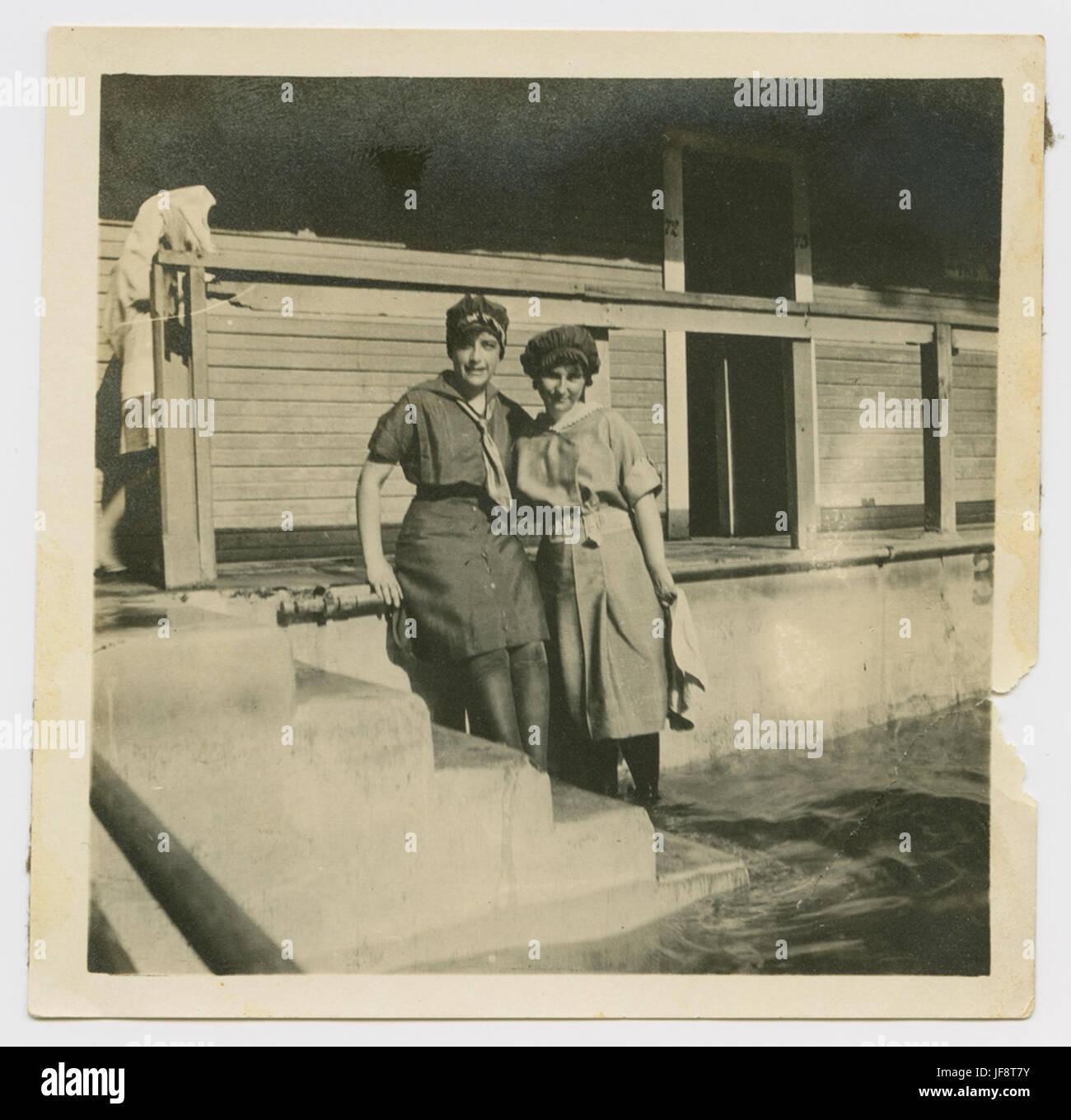 [Two Women in Bathing Costumes, Houston Heights Natatorium] 31729154413 o - Stock Image