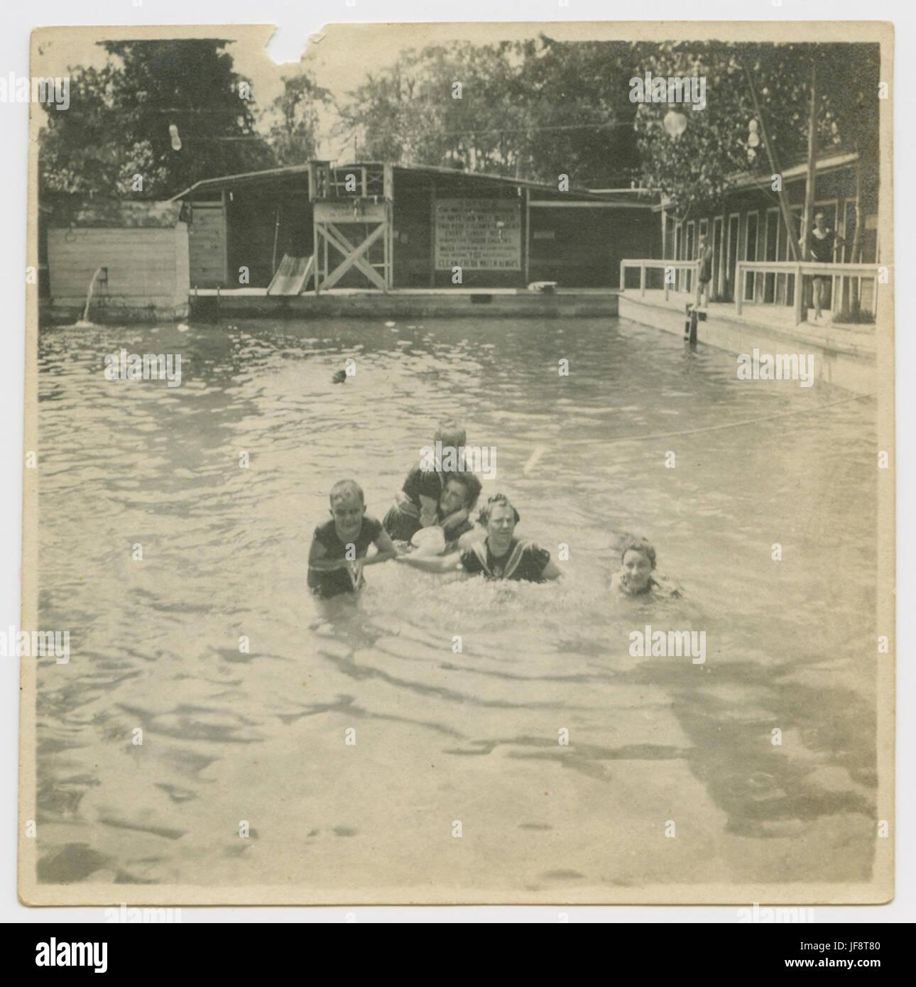[Swimmers in Pool, Houston Heights Natatorium] 32491571711 o - Stock Image
