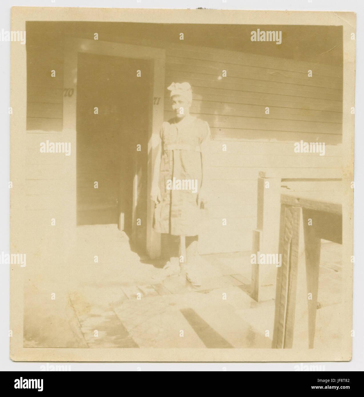 [Woman in Bathing Costume, Houston Heights Natatorium] 32460858702 o - Stock Image