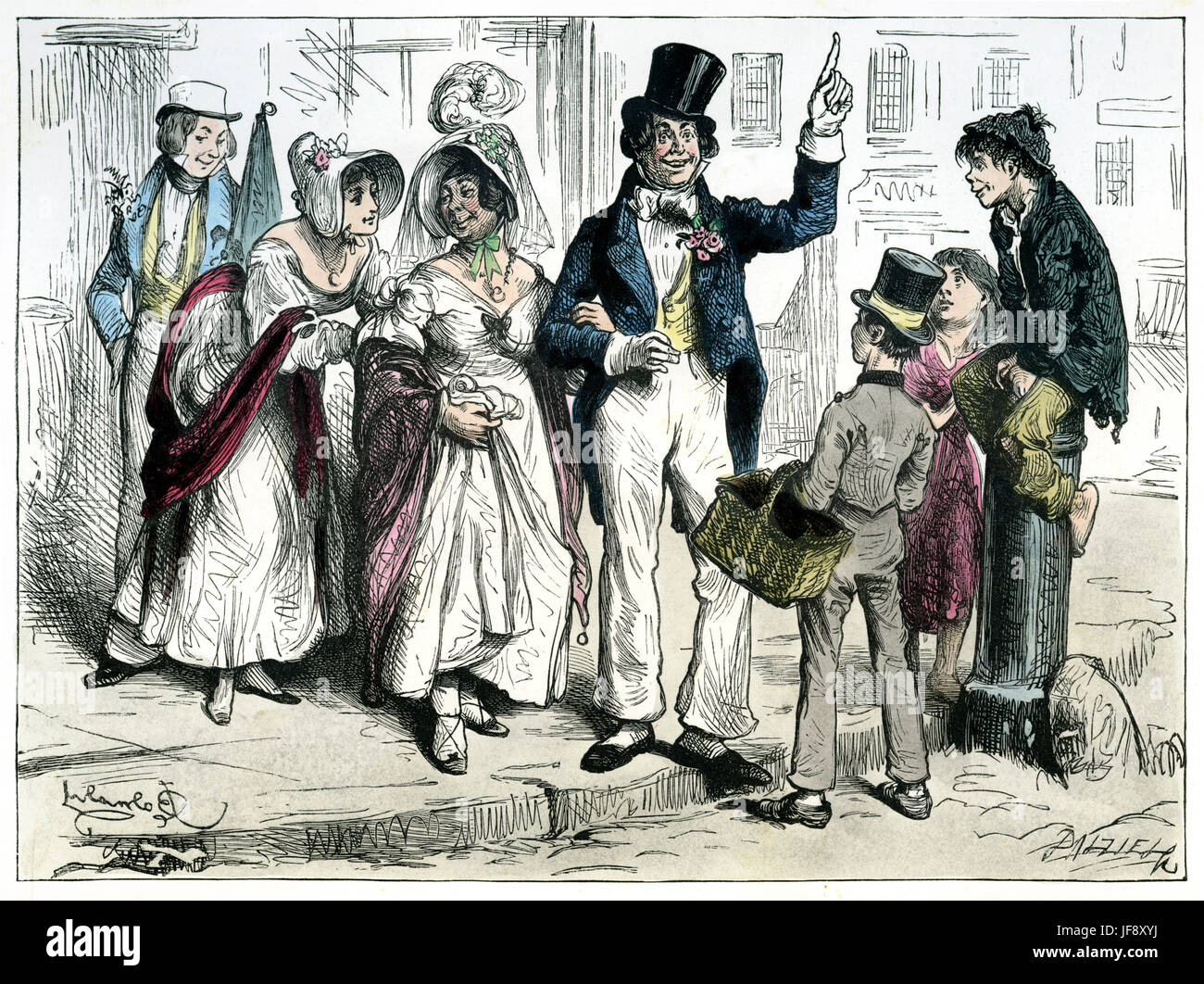 Sketches by Boz, by Charles Dickens (7 February 1812 – 9 June 1870). Chapter 7: 'It was a wedding party, and - Stock Image