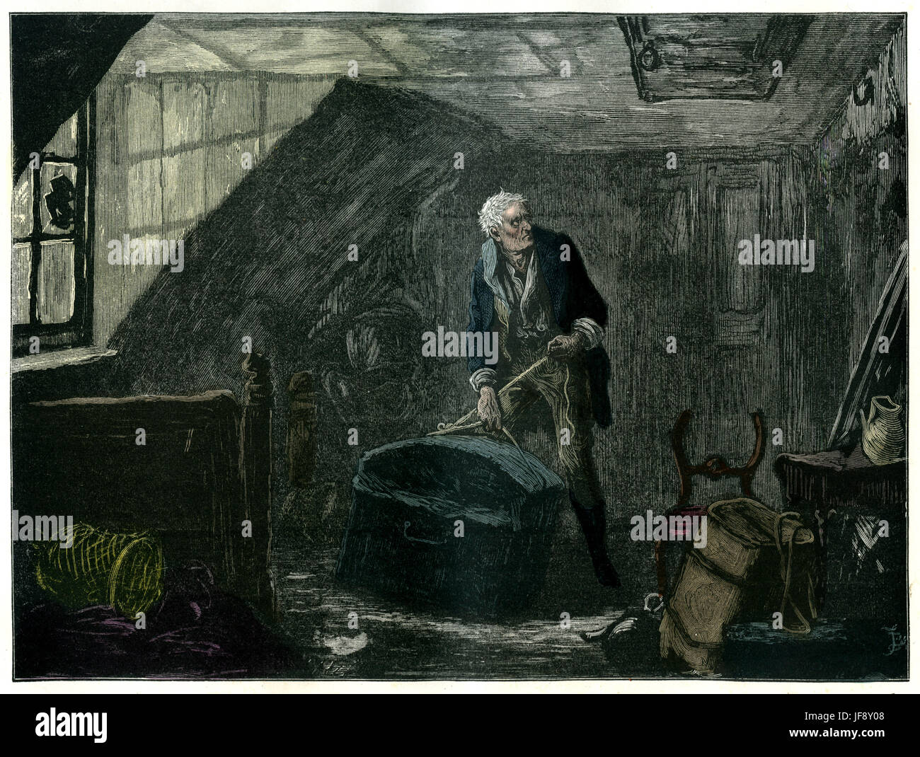 Nicholas Nickleby, novel by Charles Dickens (7 February 1812 – 9 June 1870). Chapter 62: Ralph makes one last appointment. - Stock Image
