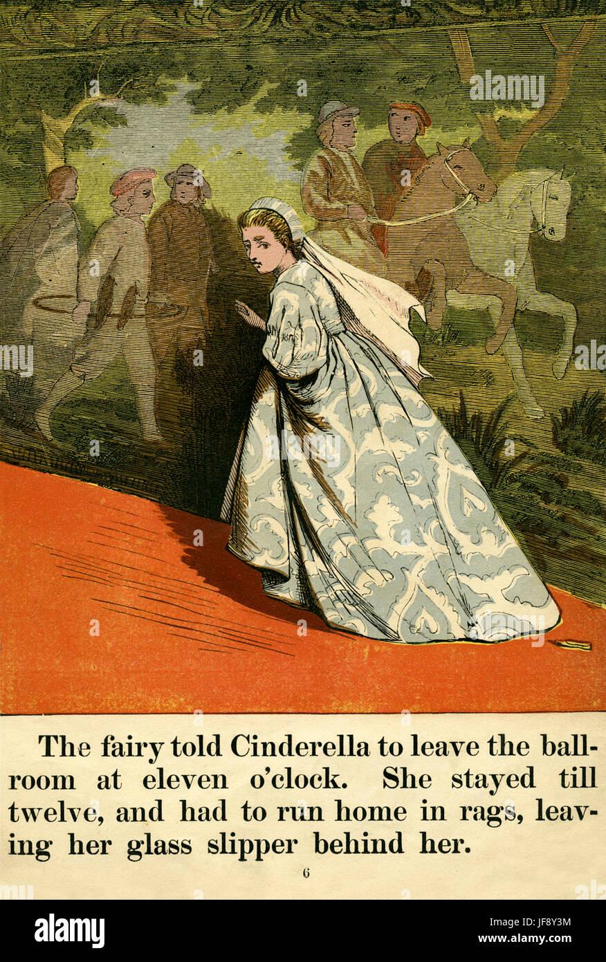 Cinderella runs away from the ball at midnight, leaving ...  Cinderella Running Away From The Ball