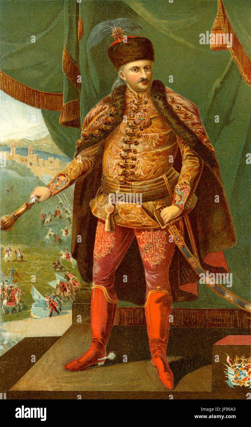 Baron, later Count Sándor Károlyi de Nagykároly (German: Alexander Károly von Nagy-Károly) - Stock Image