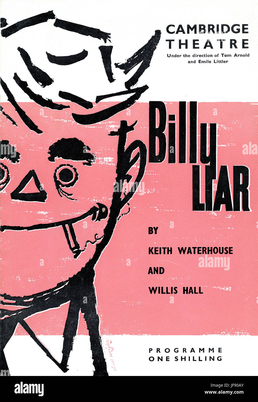 Billy Liar, play based on 1959 novel by Keith Waterhouse. KW co-wrote a three-act stage version with Willis Hall. - Stock Image