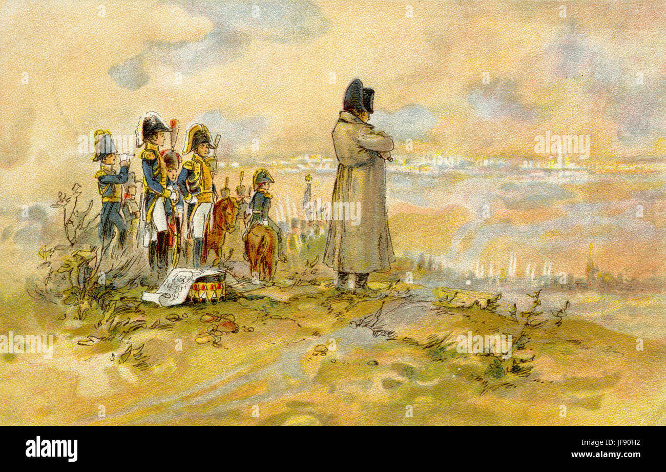 Napoleon Bonaparte awaiting the delegation of boyars from Moscow, French  invasion of Russia, 1812, Napoleonic wars