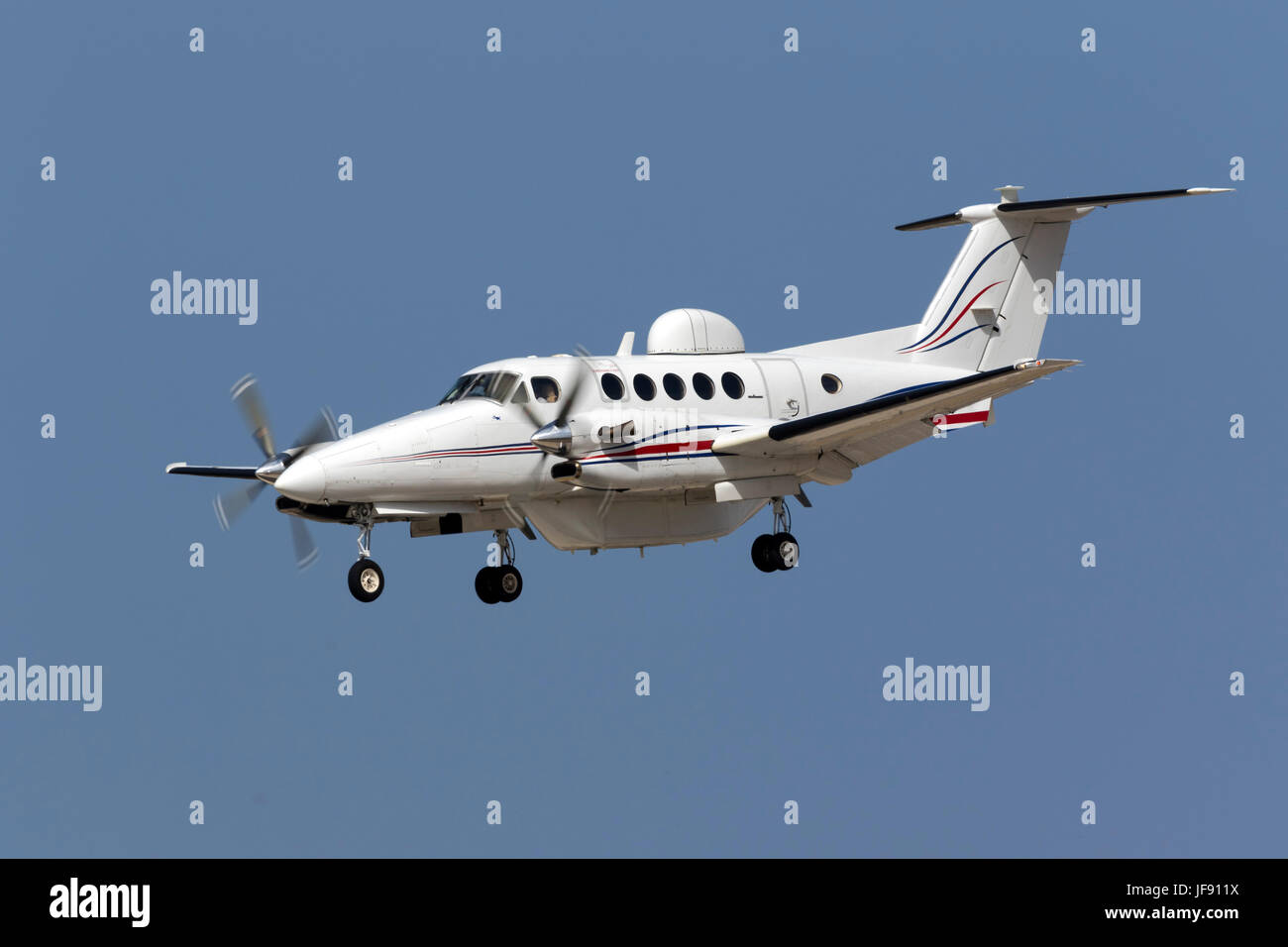 Sierra Nevada Corp. Beech Super King Air 300 [N333WC] which is a demonstrator for the U.S. Army's MARSS (Medium - Stock Image