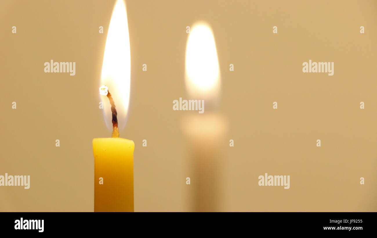 hannukah candles - Stock Image
