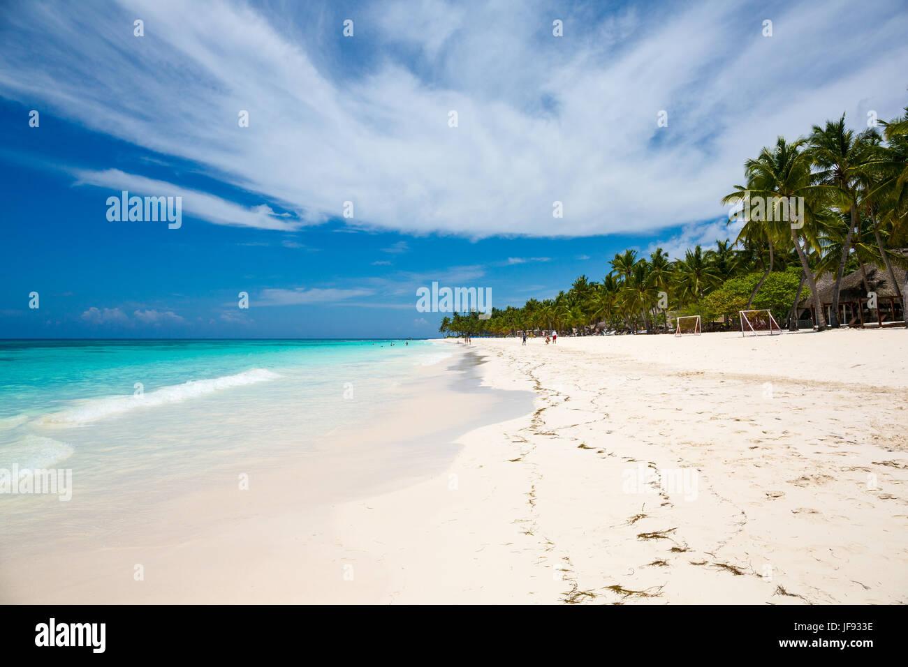beach at Saona island, Dominican Republic - Stock Image