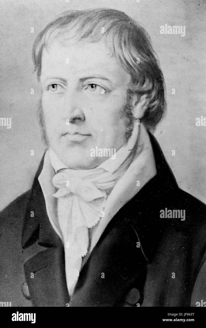 GEORG FRIEDRICH HEGEL (1770-1831) German philosopher - Stock Image