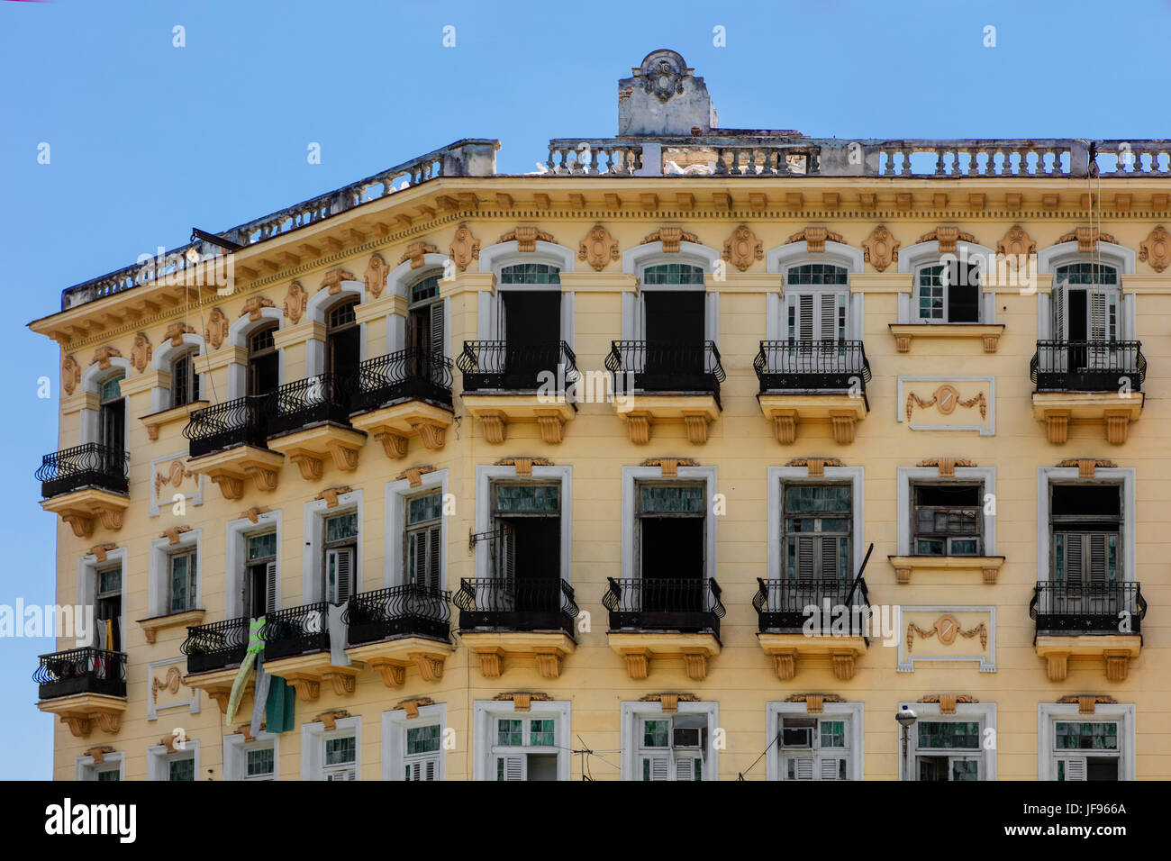Historical architecture graces much of HABANA VIEJA  - HAVANA, CUBA - Stock Image