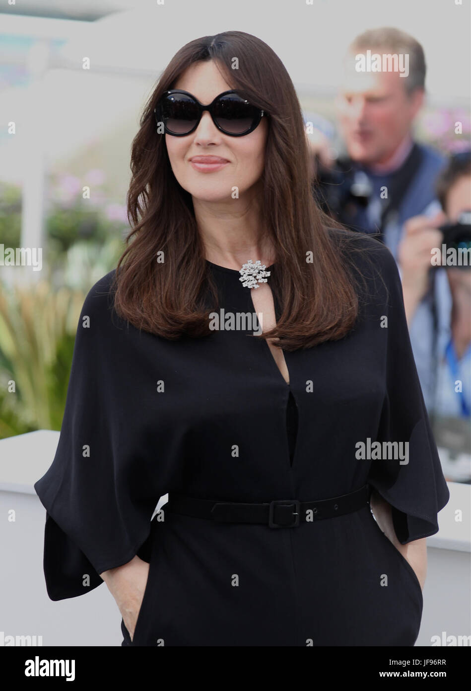 Monica Bellucci attends a photocall for her duty as Mistress of Ceremonies photocall during the 70th annual Cannes Stock Photo