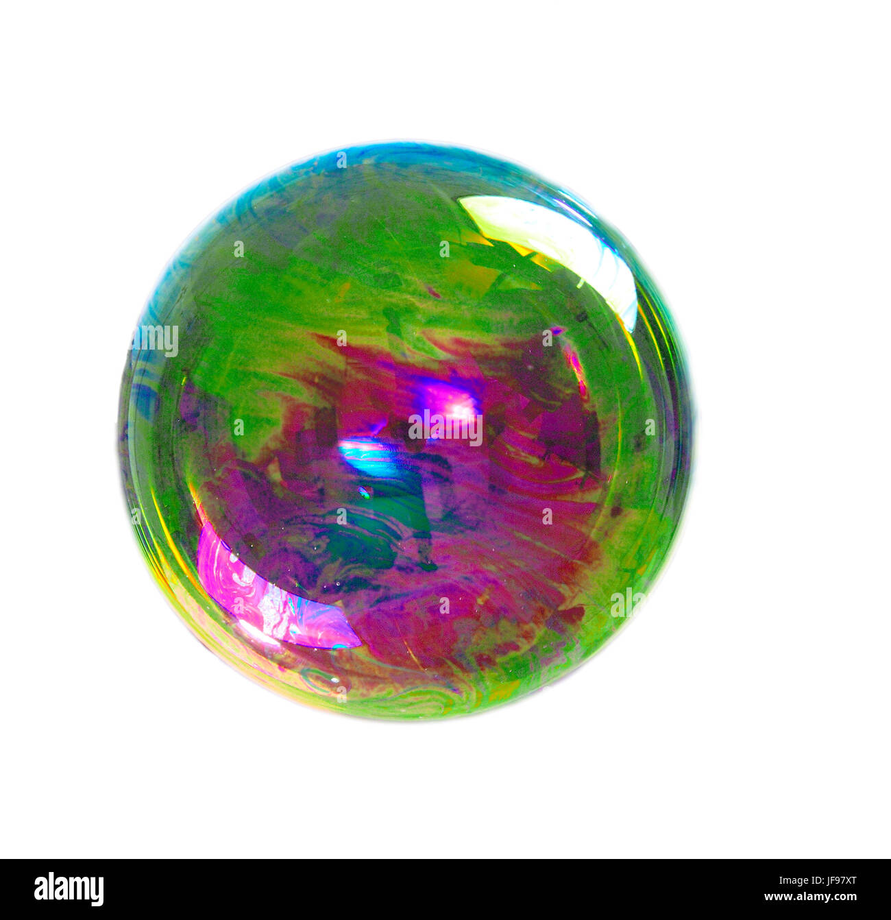 a soap bubble with many colors - Stock Image