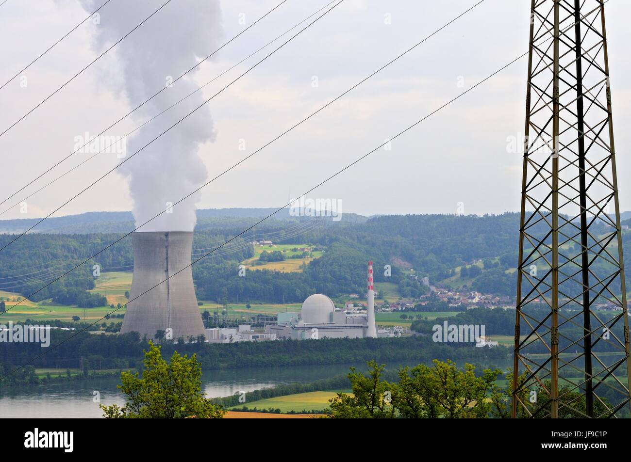 Leibstadt nuclear power plant in Switzerland Stock Photo