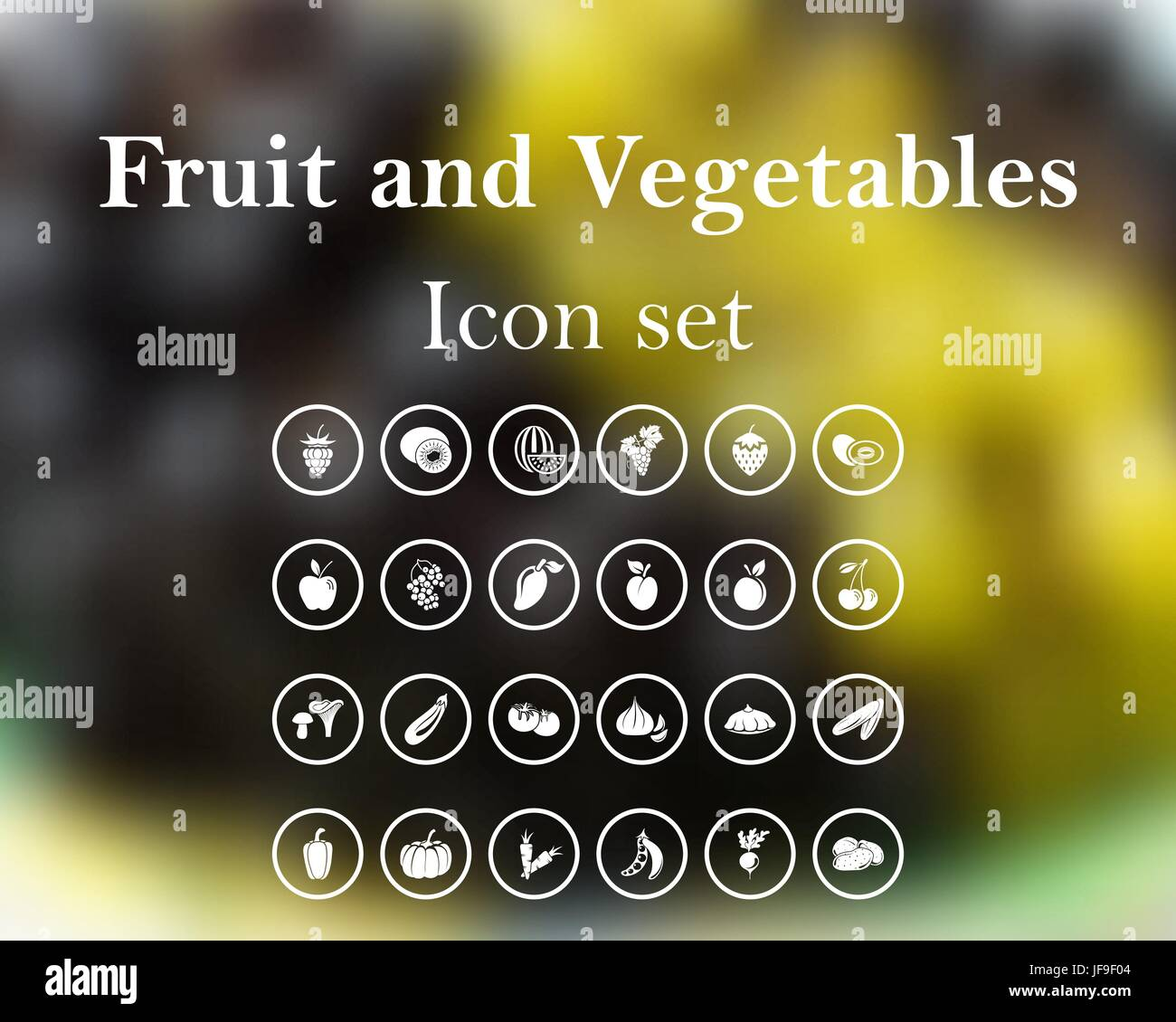Fruit and vegetables - Stock Vector