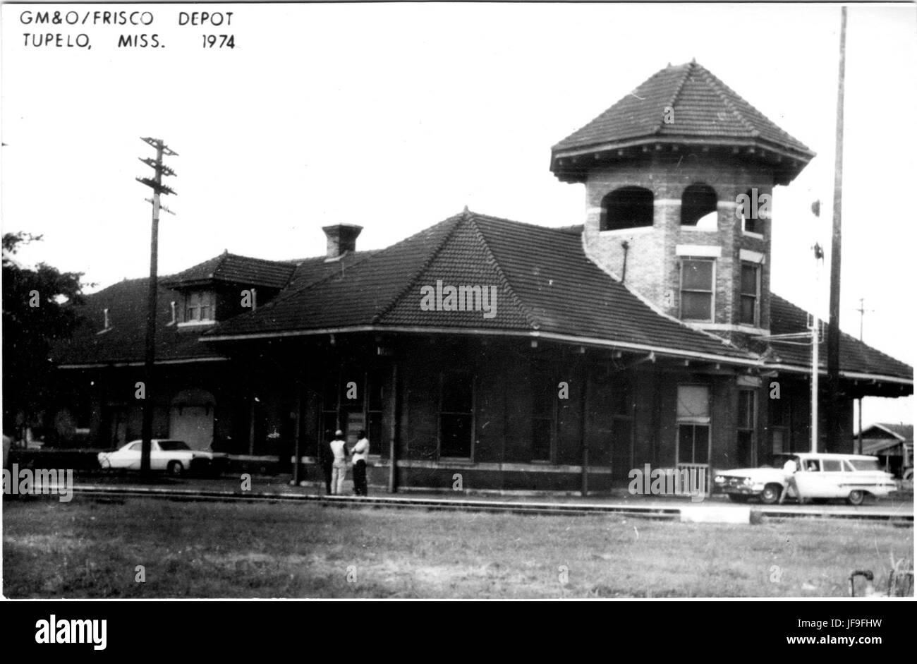G M and O, Frisco Depot, Tupelo, Miss 1974 30810440913 o - Stock Image