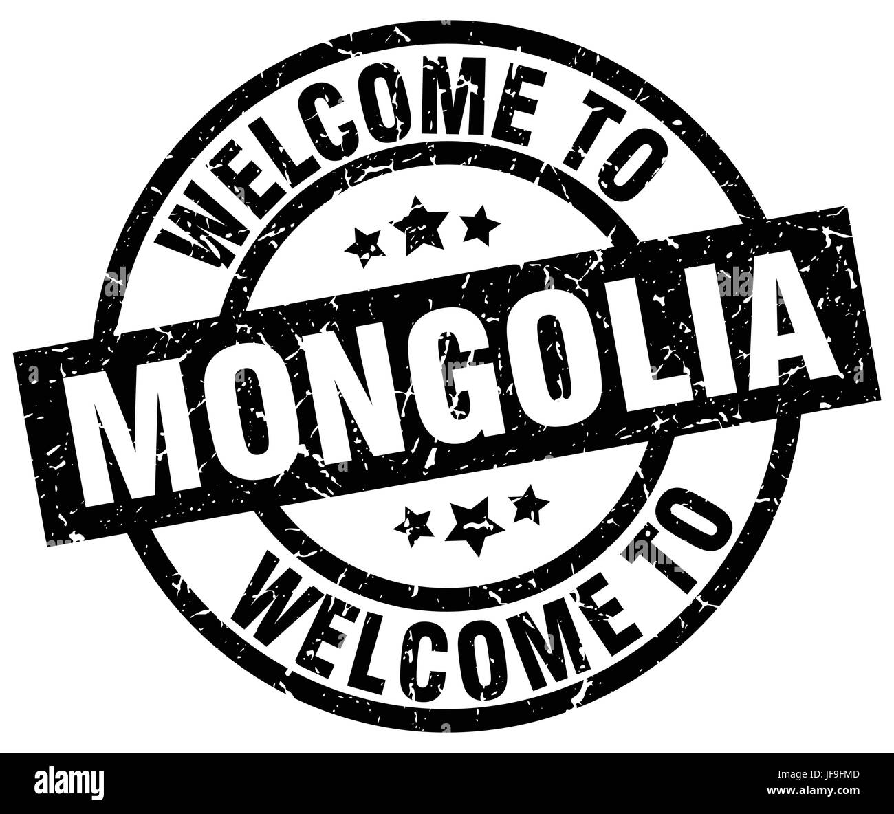 welcome to Mongolia black stamp - Stock Vector
