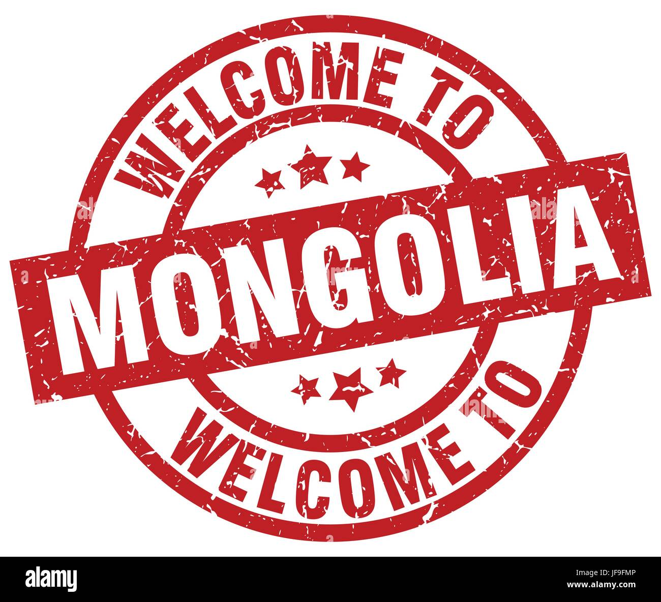 welcome to Mongolia red stamp - Stock Vector