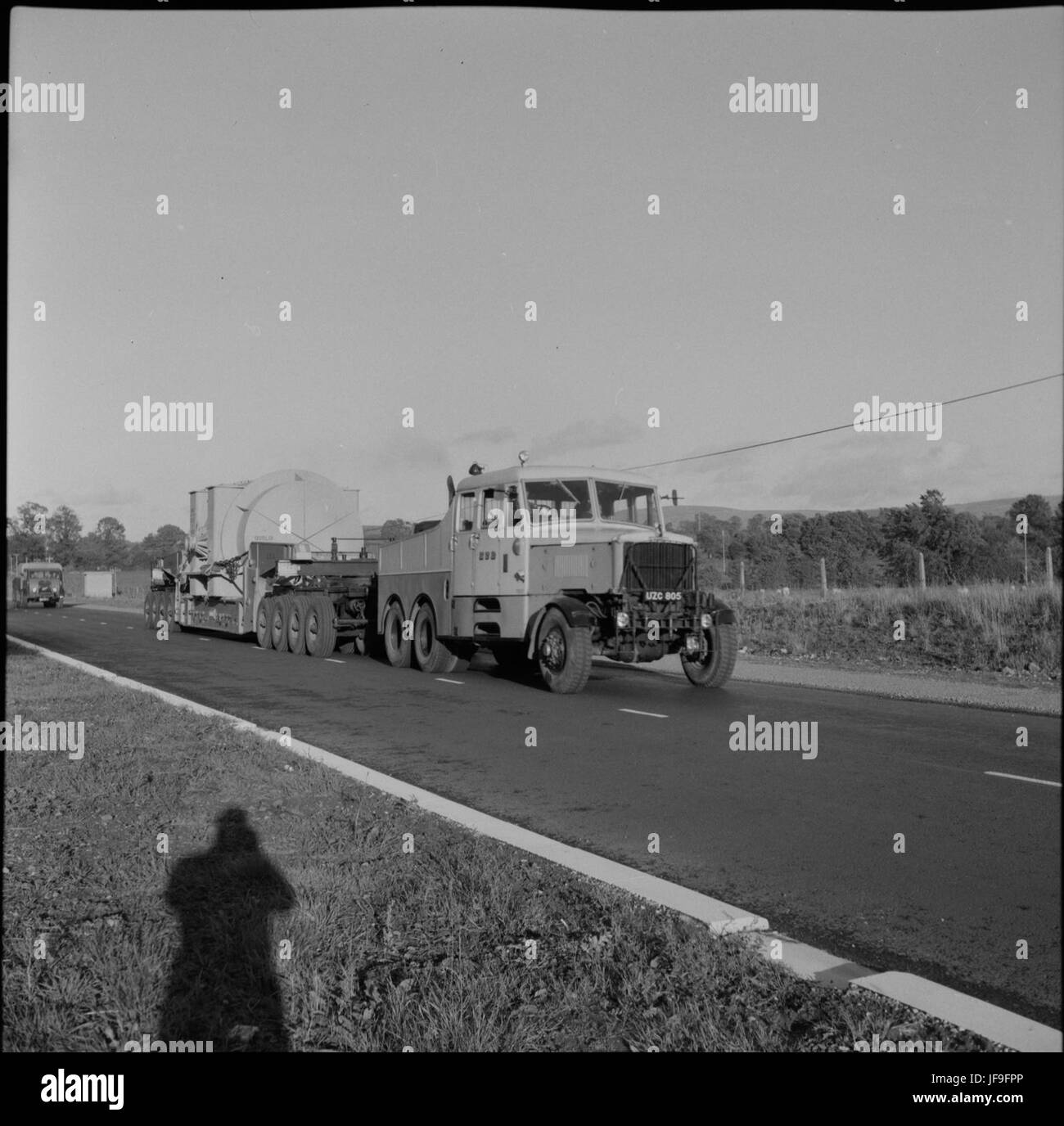 Casts a long shadow!  An ESB tractor and wide 33176741393 o - Stock Image