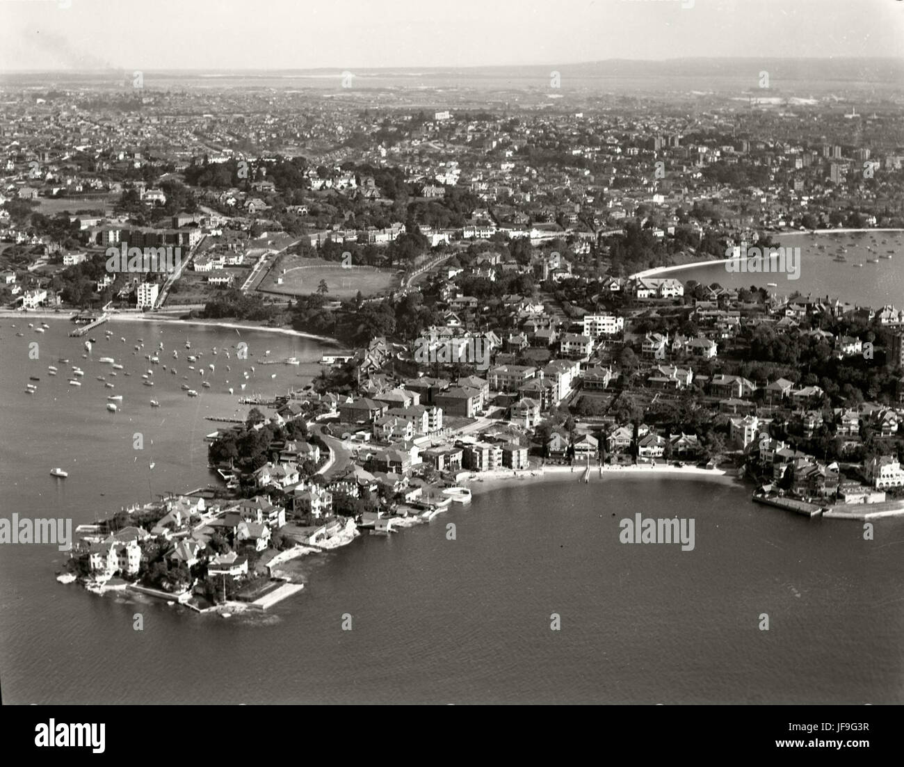 Point Piper & Rose Bay - 2 Aug 1937 30050489822 o - Stock Image