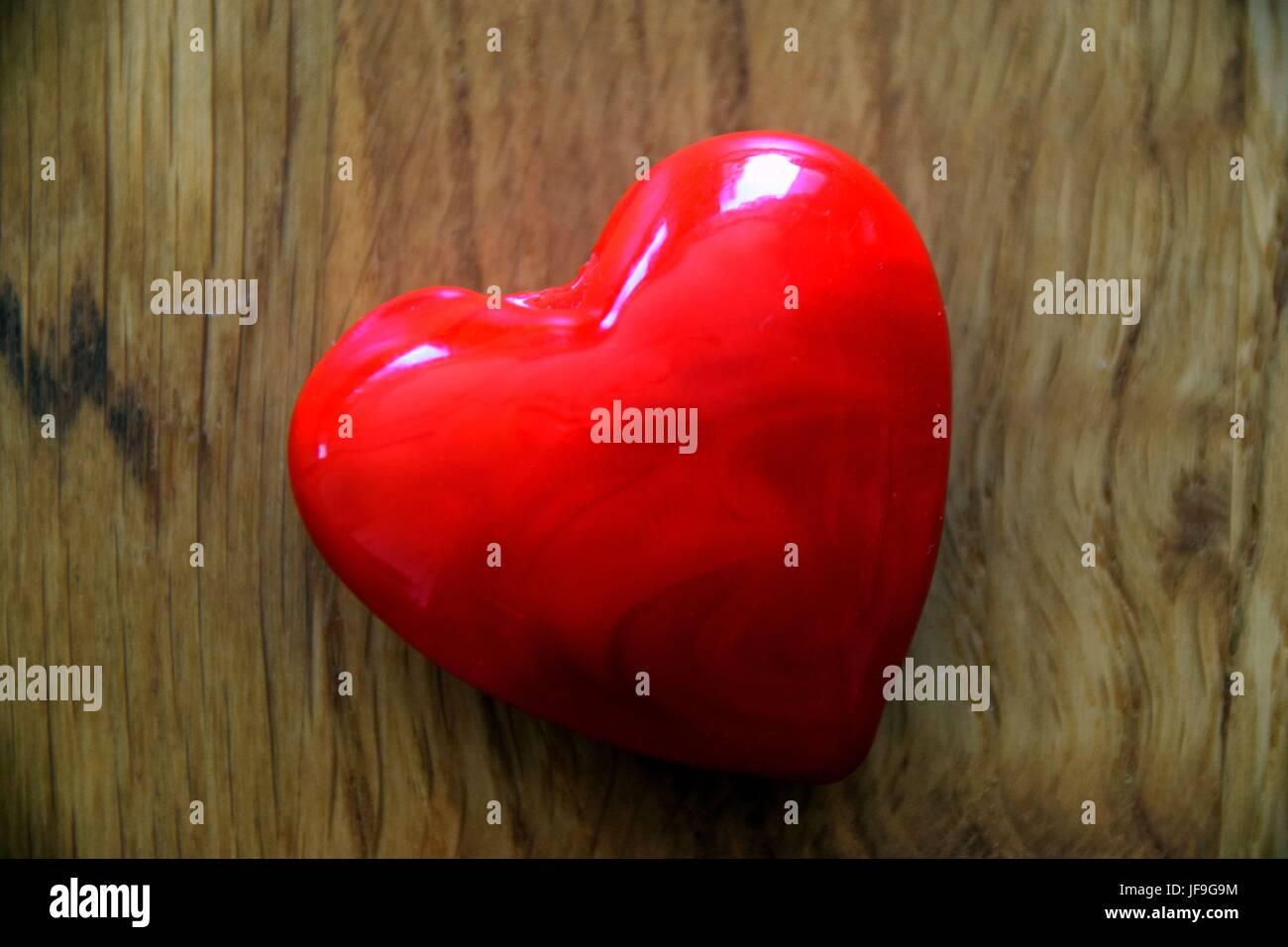 Valentine Gift Herz Der Liebe Auf Holzigem Untergrund Symbol Love