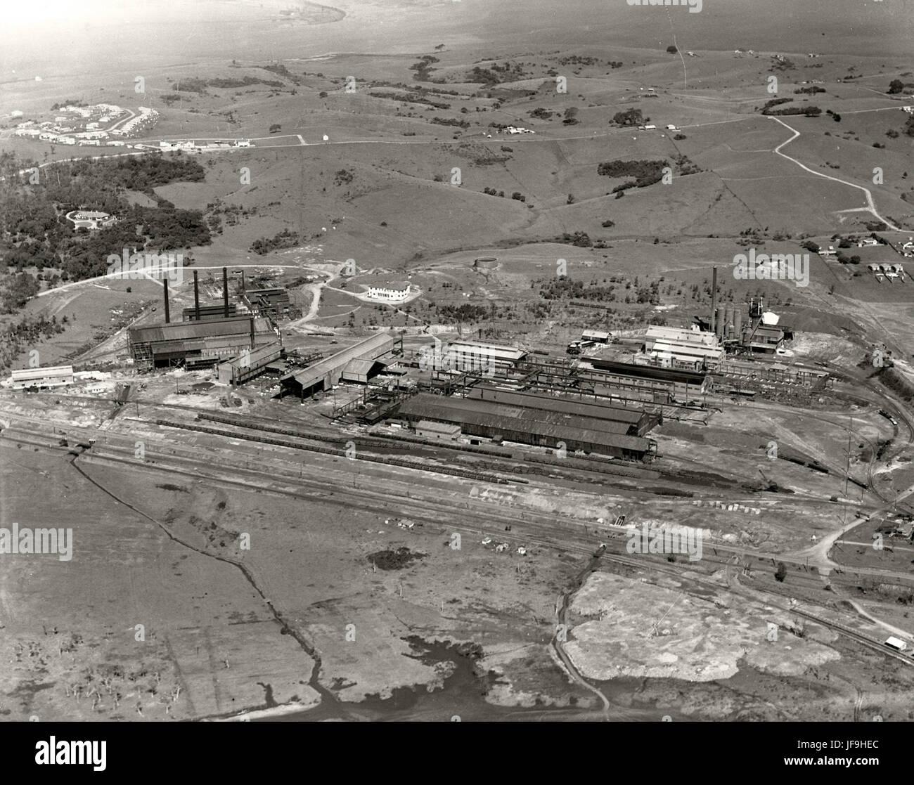 Port Kembla Steel Works  - 1936 29536136663 o - Stock Image