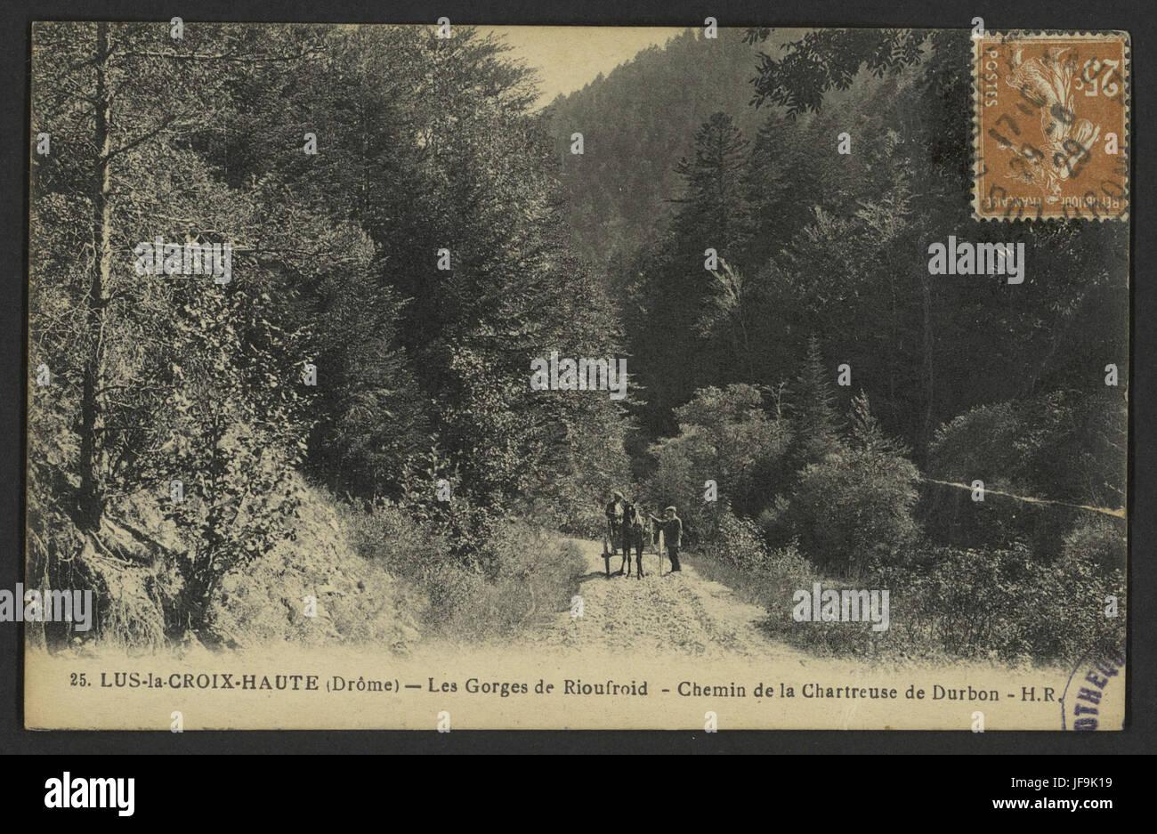 Lus-la-Croix-Haute (Drôme) - Les gorges de Rioufroid - Chemin de 33729161404 o Stock Photo