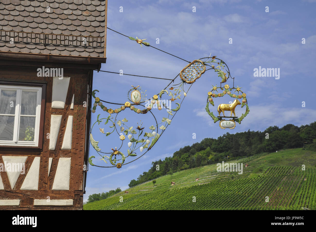Inn sign in the Rems Valley, Germany Stock Photo