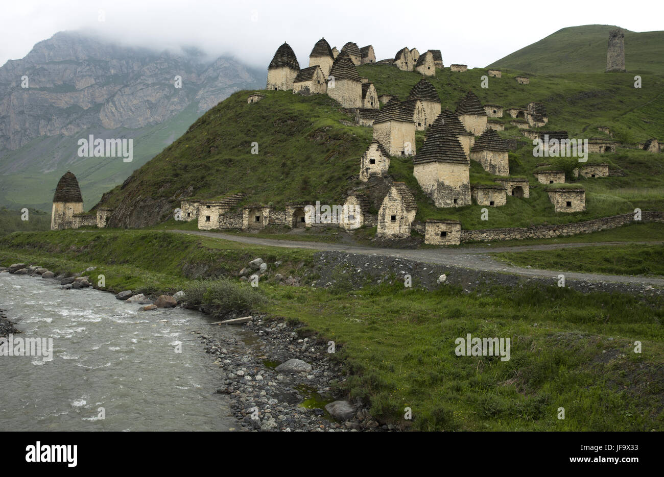 Dead town Dargavs in North Ossetia - Stock Image