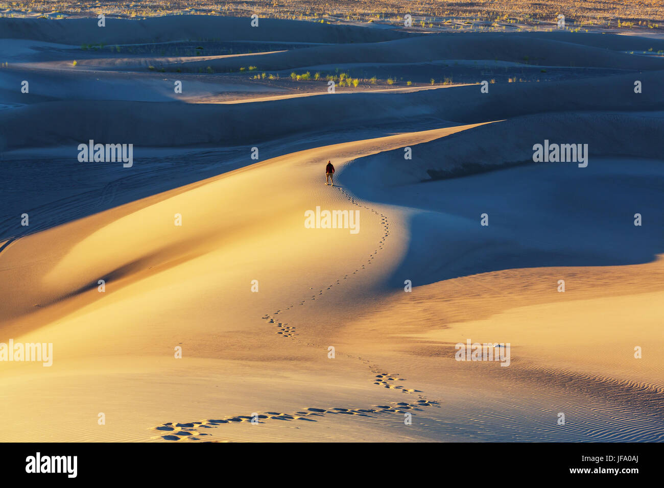 Hike in desert - Stock Image