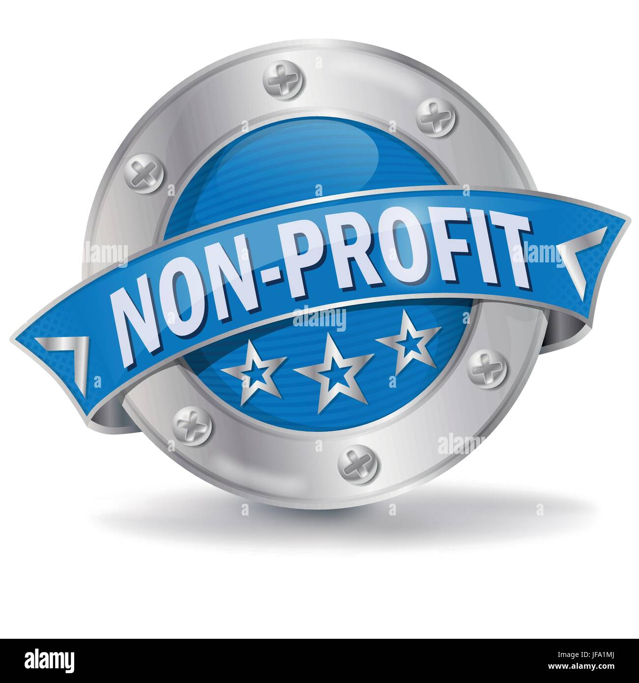 button nonprofit - Stock Image