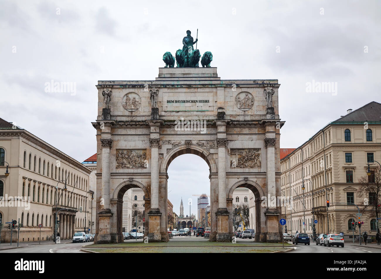 Victory Gate triumphal arch (Siegestor) Stock Photo