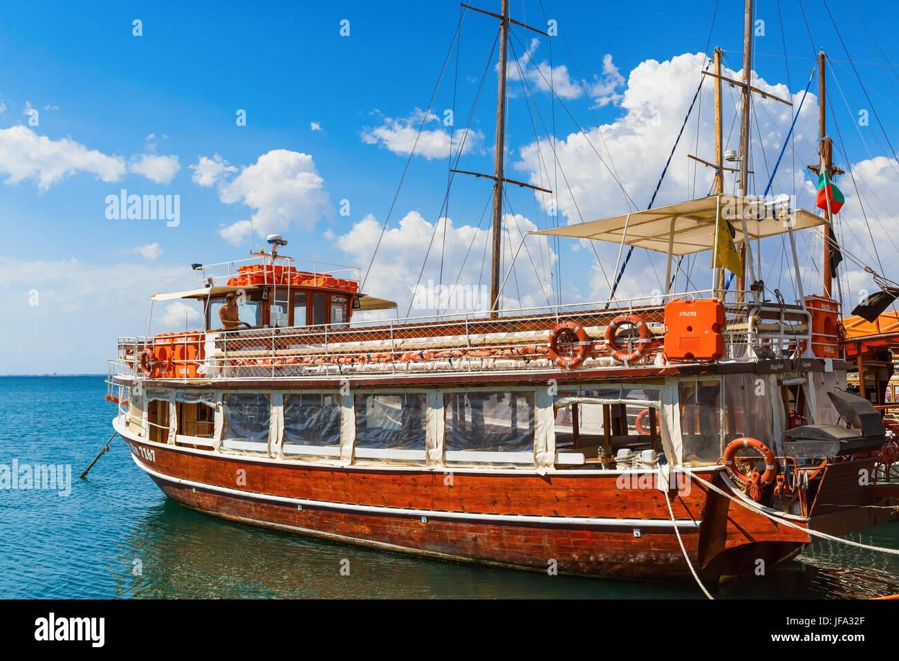 Wooden passenger ship - Stock Image