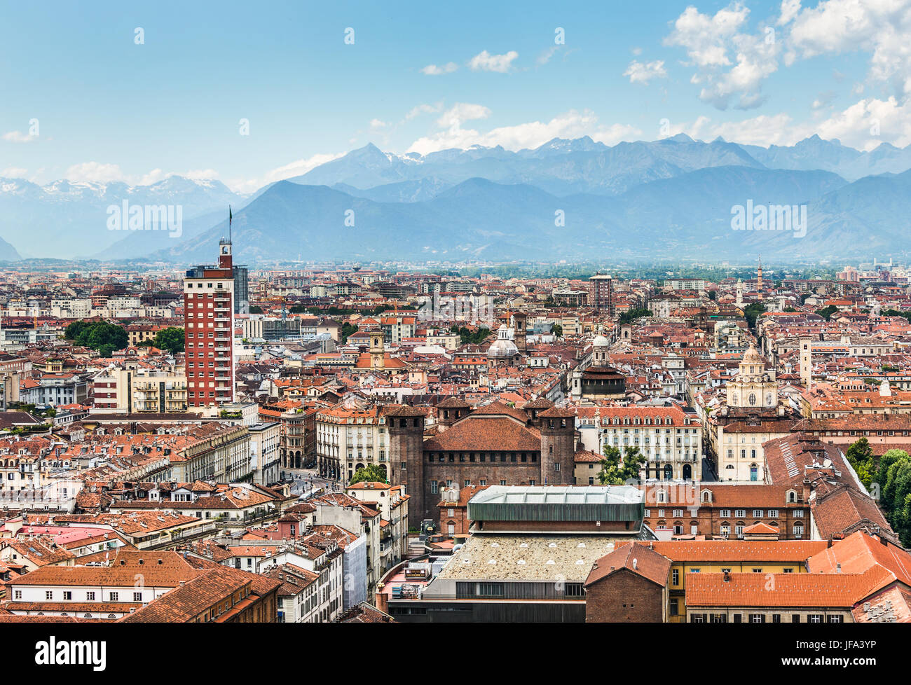 Turin Aerial view, Turin, Italy - Stock Image