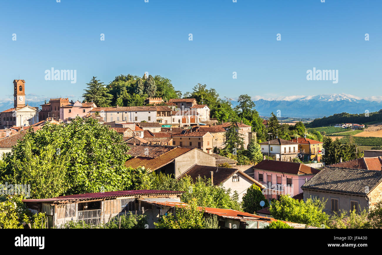 Village of Sala-Monferrato, Italy - Stock Image